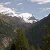 View of the Kleine Matterhorn from Zermatt.