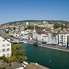 View of Zurich and the Limmat River