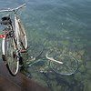 Todd, We found your bike. <br /> Yes, it is the one in the water.