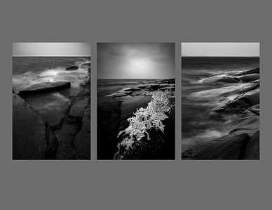 Silver Harbour Triptych BW