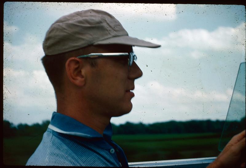 1960-07 Dad in T-Bird B