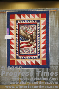 "Honorable Mention - Small Bed Quilts ""Proud To Be an American"" Clarice Rylander"