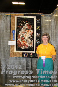 "First Place - Wall Hangings ""Koi at Play"" Alice Gibson"