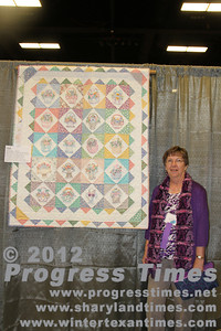 "Third Place - Small Bed Quilts ""Aunt Glady's Baskets"" Jane Ross"