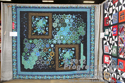 "Second Place - Large Quilts ""Peacock Beauties"" Helen Badgerow"