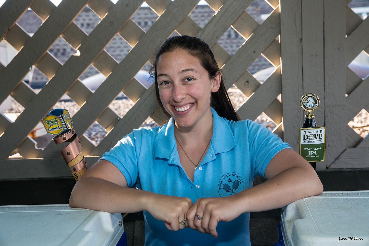 Amanda on beer duty