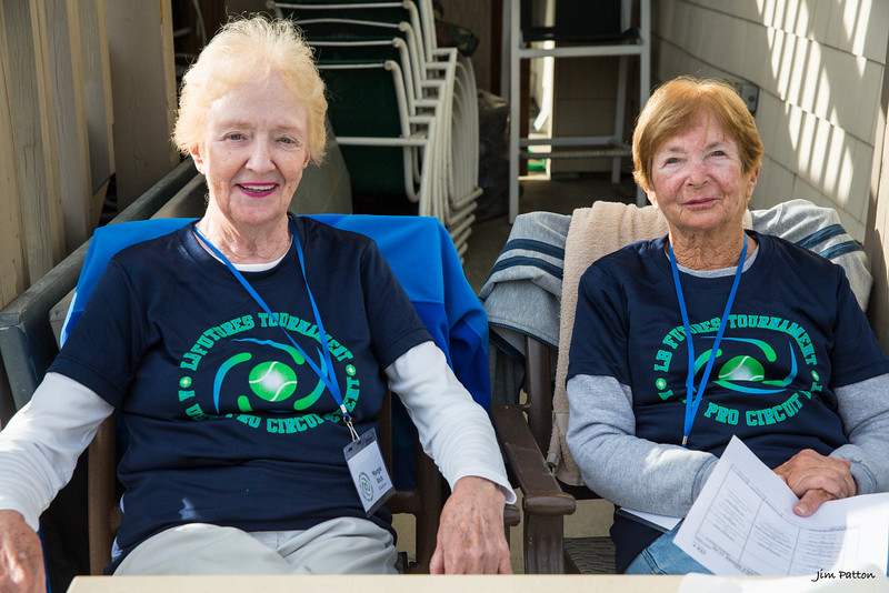 Marge and Marilyn guarding the deck