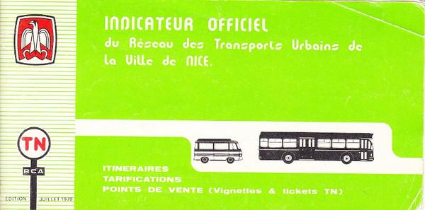 TN - indicateur officiel (1978)