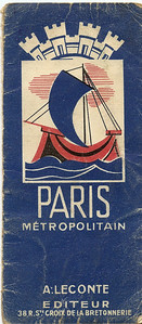 Paris Metropolitan plan (A Leconte editeur) - folder cover c1936