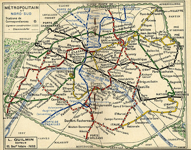 Métro Paris - 1926