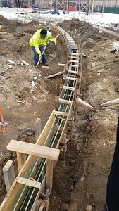 20160129_radius concrete curb form work