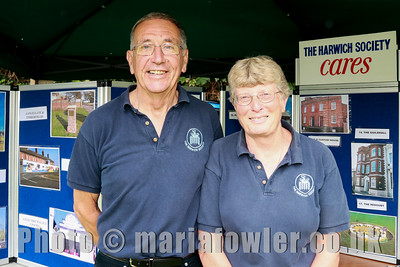 Colin Farnell (Chairman, Harwich Society) and Aileen Farnell (Membership Sec, Harwich Society)