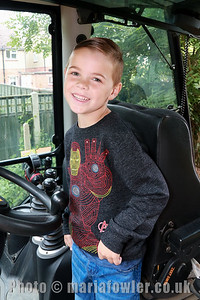 Harry Horsnell, Age 5, Spring Meadows Primary School inside JCB cab