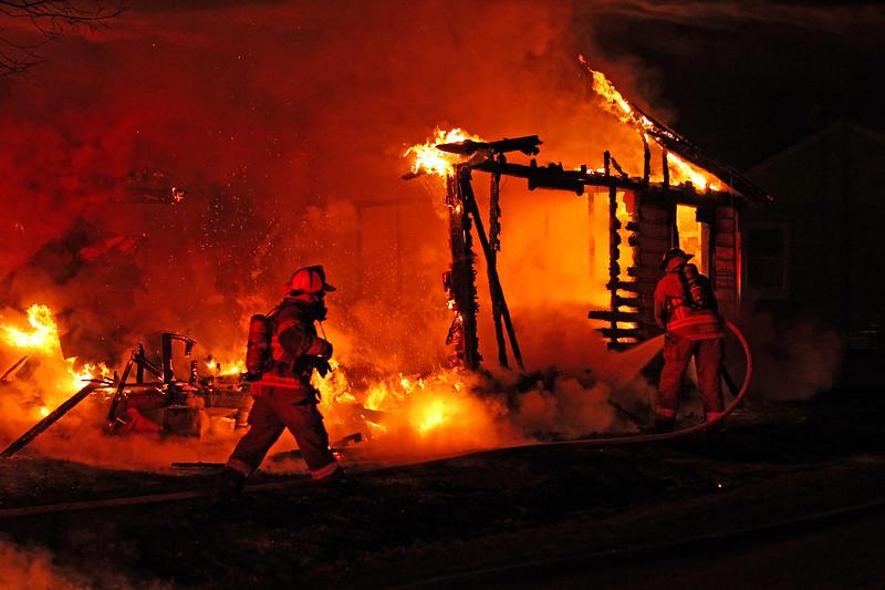 Taken by Sheri Hemrick. Structure fire in Hillsboro, Texas. January 3, 2018