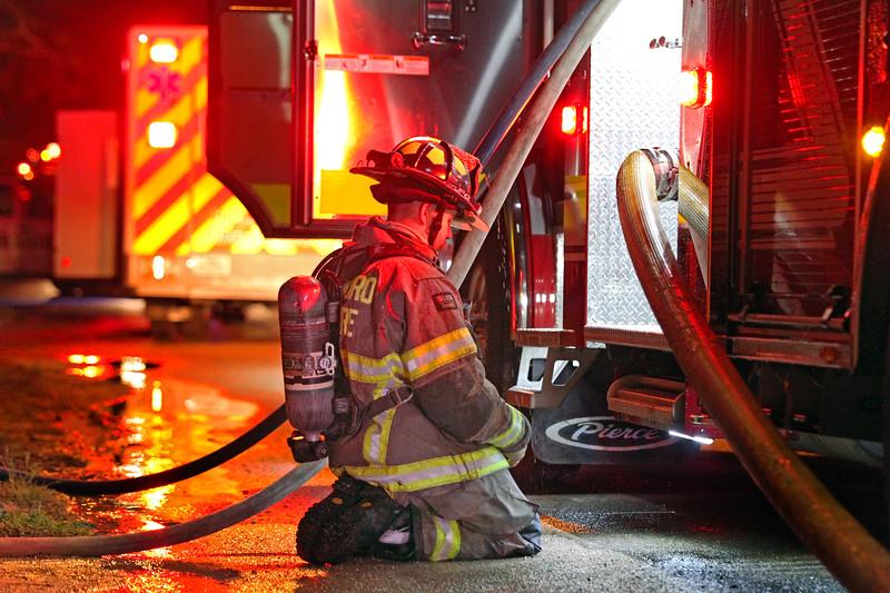 Taken by Sheri Hemrick on March 6, 2018. Structure fire in Hillsboro, Texas