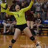 Photo by Aaron Beckman  <br /> <br /> Stuart's Brittany Hanzlik celebrates a point Thursday night in Lincoln during their first round game in the Nebraska State Volleyball tournament. The Broncos swept Mullen in three sets.