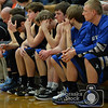 Photo by Aaron Beckman  <br /> <br /> Lutheran High's bench watches the final seconds of their game against Battle Creek during the second round of the C2-6 Boys Subdistrict basketball game. Battle Creek ended up beating the Lutheran High Eagles 52-44.