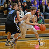 Photo by Aaron Beckman  <br /> <br /> Battle Creek's Kobe Lade dribbles around Lutheran High's Colby Fuxa Tuesday night in Stanton during the C2-6 Boys Subdistrict basketball game.