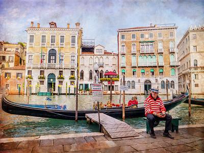 ANTIQUE Gondola Man