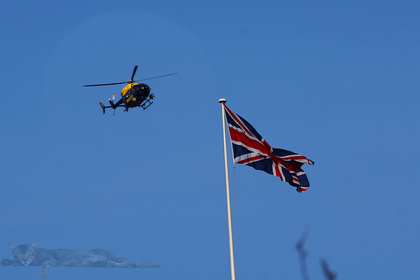 Police Helicopter and Union Flag