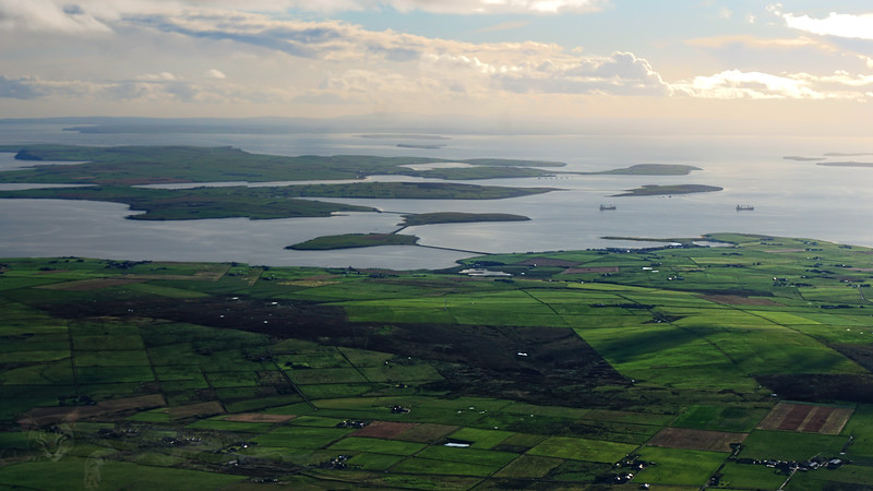 View From Plane Over Orkney