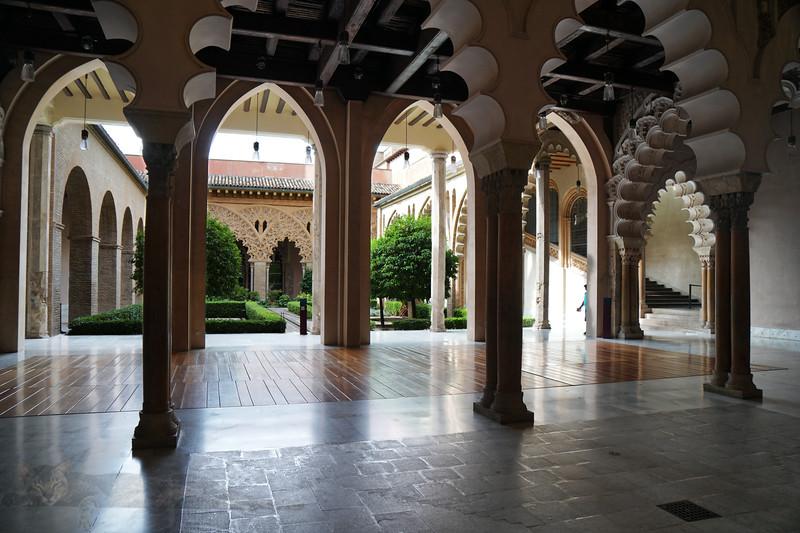 Inside the Palacio de la Aljaferia