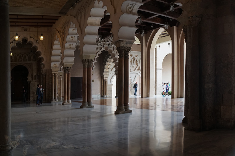 Inside the Palacio de la Aljaferia, Zaragoza, Spain
