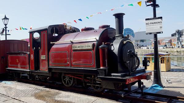 Steam Engine Palmerston - On Display at Albert Dock - Liverpool