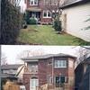 86 Colin ~ rear yard, Before & After 1996 reno