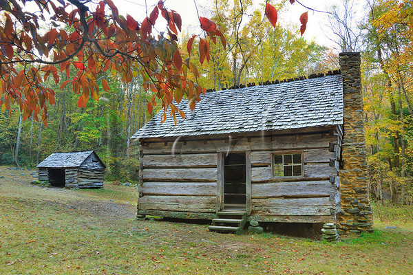 Cabin, Jim Bales Place, Great Smoky Mountains National Park, Tennessee, USA