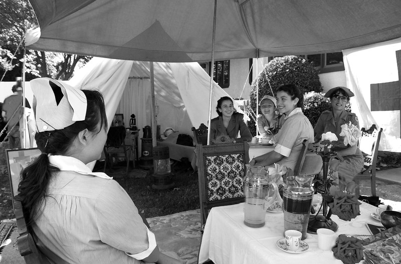 Nurses at The Red Cross Tent