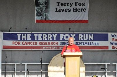 Darrin Park the organizer of the event in Edmonton and a cancer  fighter