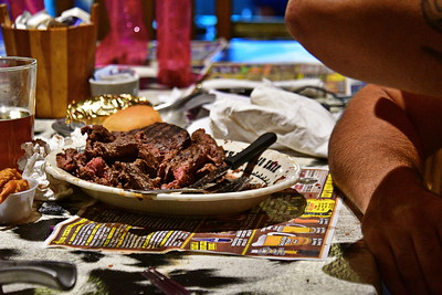 He didn't make it.  $72 steak