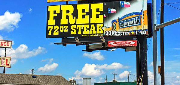 Billboard in Dalhart, Texas