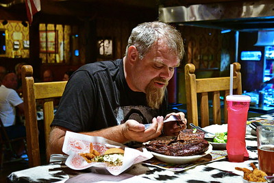 This guy is from Norway and attempts to eat a Texan 72 oz steak.