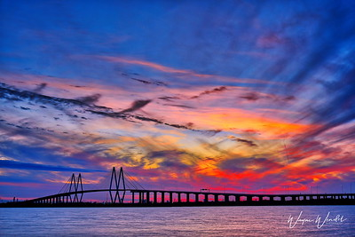 Fred Hartman Bridge in HDR