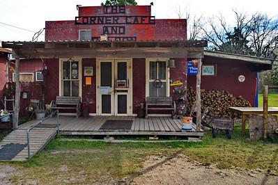 Corner Cafe & Saloon, Weesatche, Texas