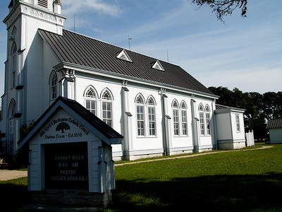 Sts. Cyril and Methodius Catholic Church, Dubina, a Czech settlement a few miles northeast of Schulenburg and just south of the town of Ammannsville.