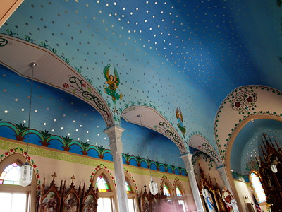 Sts. Cyril and Methodius Catholic Church painted ceiling