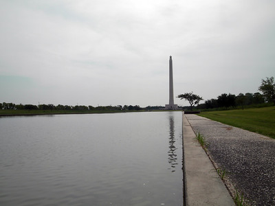 San Jacinto Monument reflection pool
