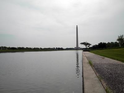 San Jacinto Monument reflection pool