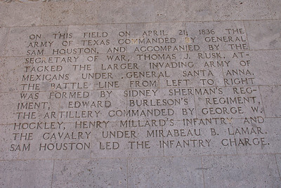 6) The Texas Army order of battle at San Jacinto