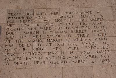 4) Texas declared its independence, the Alamo and Goliad fel to the Mexican army