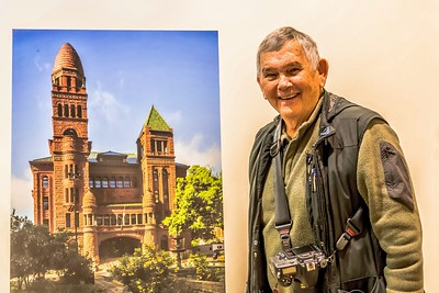 A Bill Boyd Photo of Me & Bexar County Courthouse Photo on Exhibit