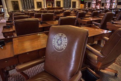 Seal of Texas on each House Chamber Chair