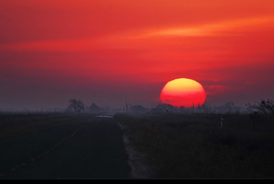 Sunrise along FM1985 to High Island