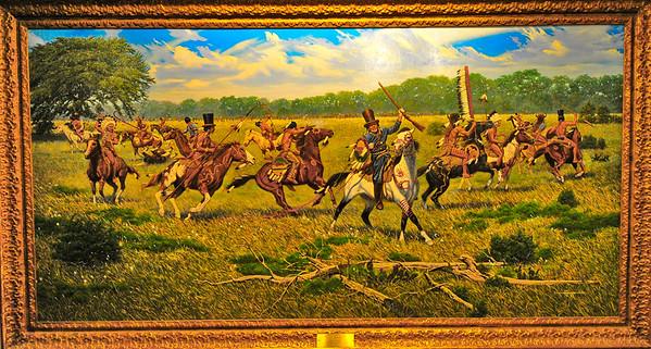 Battle of Plumb Creek painting