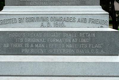 Texas Capitol Confederate Memorial:  Hood's Brigade