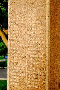Texas Capitol Heroes of the Alamo Memorial List of Defenders