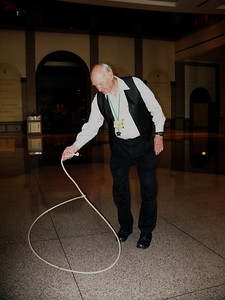 Doyle Carter showing us some of his Will Roger tricks with the rope.